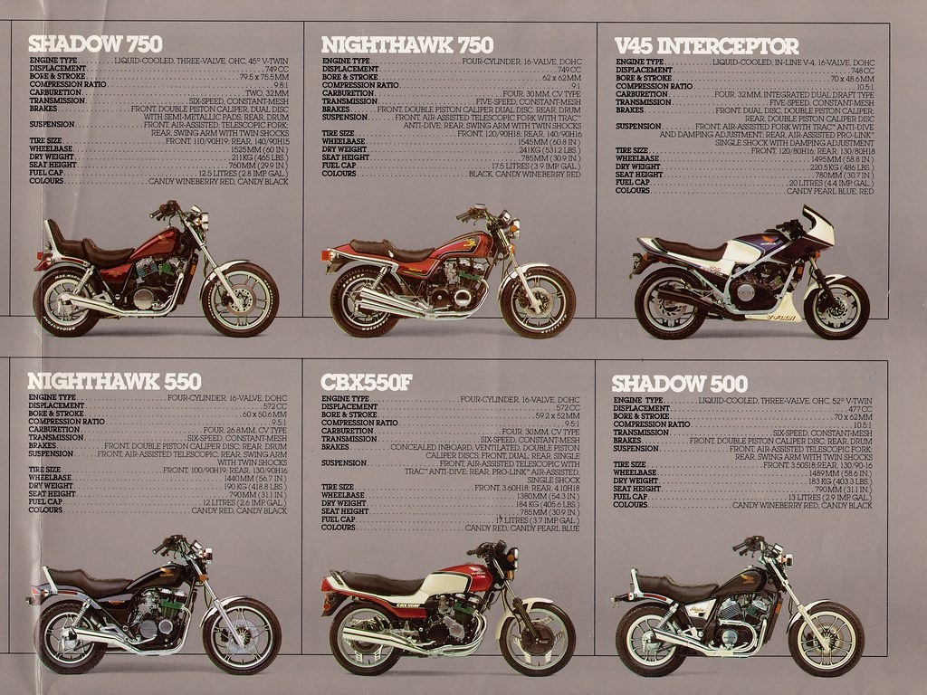 1983 Honda Motorcycle Brochure Cory Gurman Flickr Shadow 500cc By