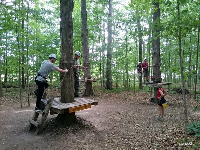 treetop trekking practice area