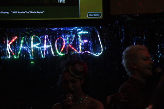 winding down with some Karaoke after the gig | by andrew lorien