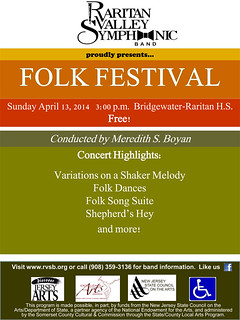2014 Folk Festival Spring Concert | by Raritan Valley Symphonic Band