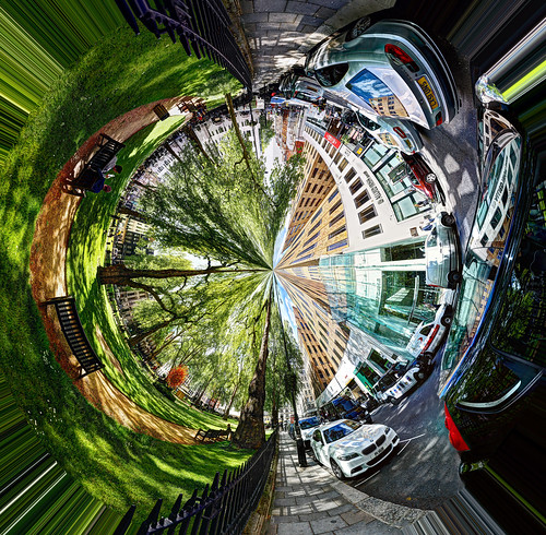 Inverted Polar Panorama in Berkeley Square | by Anatoleya