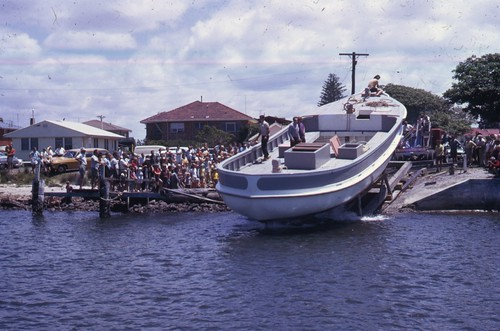 Taniwha 1973 Launch At Tuncurry A Large
