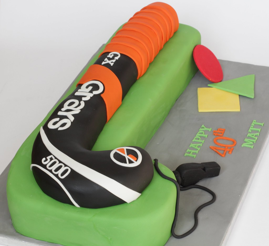 Hockey Cake For A Field Hockey Umpire On His 40th Birthd Flickr