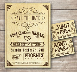 Country Western Wedding Invitation | by CottontailDigitalPress