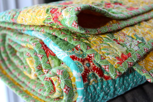Flora Jelly Rail Quilt | by CoraQuilts~Carla