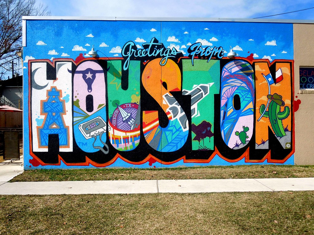 Greetings From Houston Mural 4475 Located On The East Sid Flickr