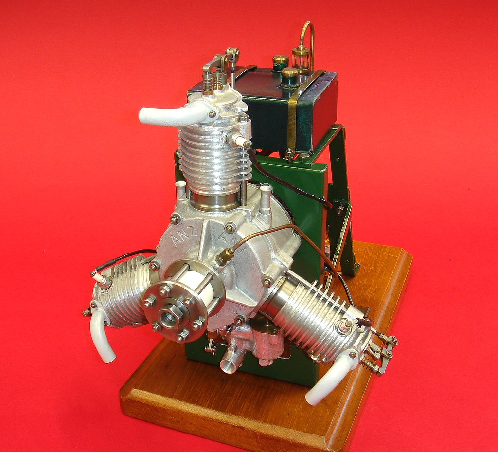 ... Anzani Radial Engine By Les Chenery, England, 1985 | By Miniature  Engineering Museum
