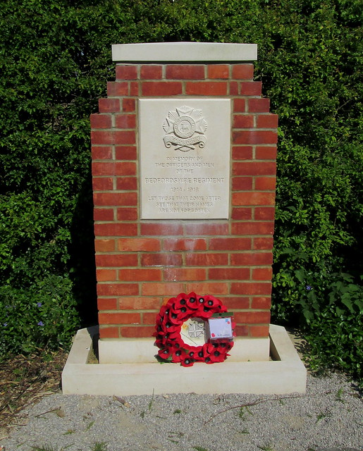 Tyne Cot Cemetery, Bedfordshire Regiment Memorial