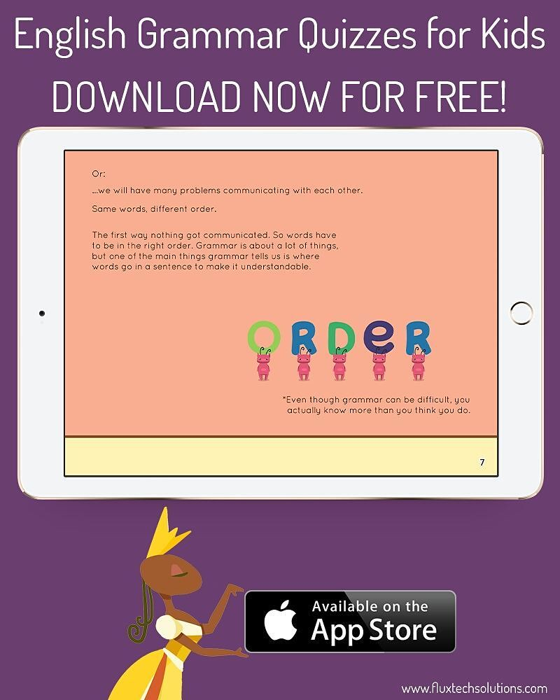English Grammar Quizzes for Kids DOWNLOAD NOW FOR FREE :ht… | Flickr