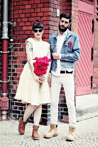 CAT_COLORADO_LOOKBOOK_WEDDING_MARRIAGE_BOY_GIRL_VINTAGE_BOOTS_BEARD_TATTOOS_BERLIN_SHOOT | by microphoneheart