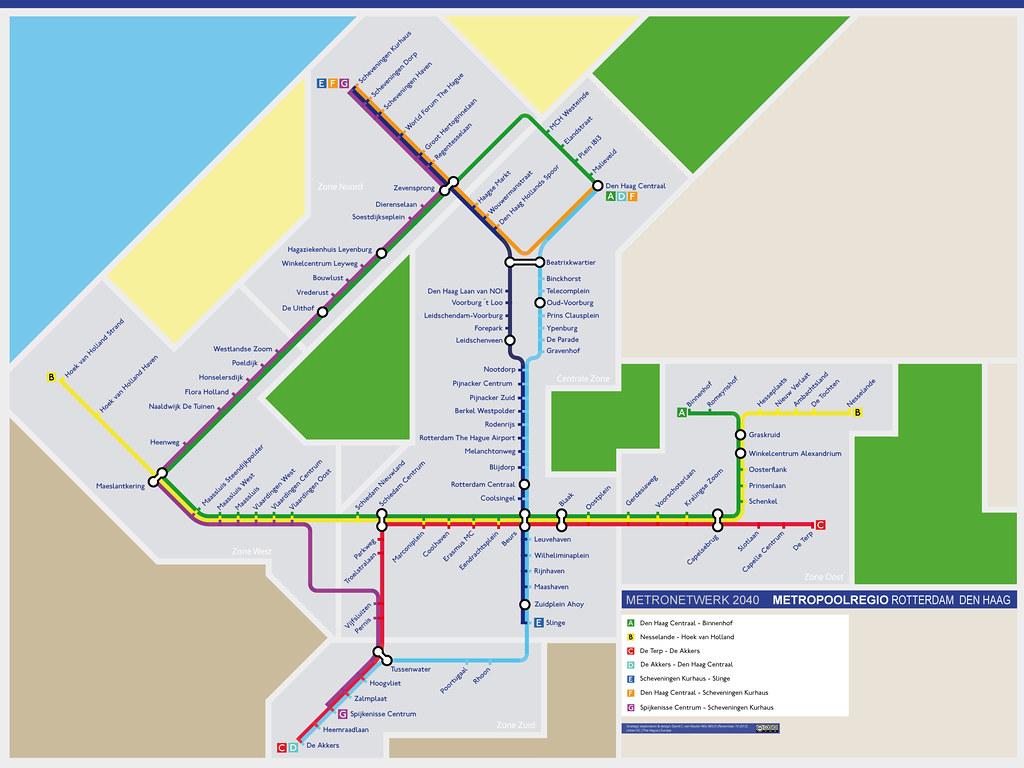 Metro Network 2040 Map of Metropolitan region Rotterdam Flickr