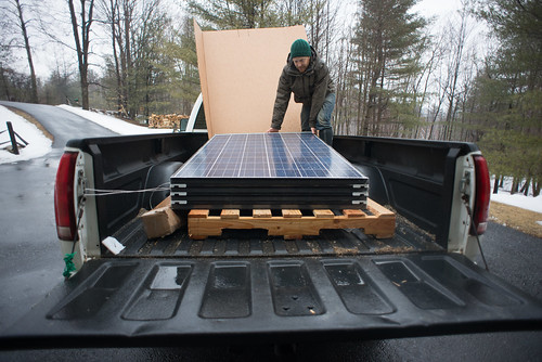 Tyler Unloading Brand New Solar Panels! | by goingslowly