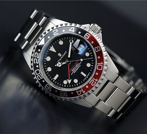 Steinhart Ocean One Gmt Professional Diver S Watch Black