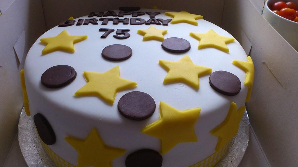 75th Birthday Cake Cakesbysallybath Flickr