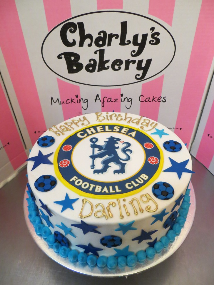 Chelsea Football Club Themed Birthday Cake Charlys Bakery Flickr