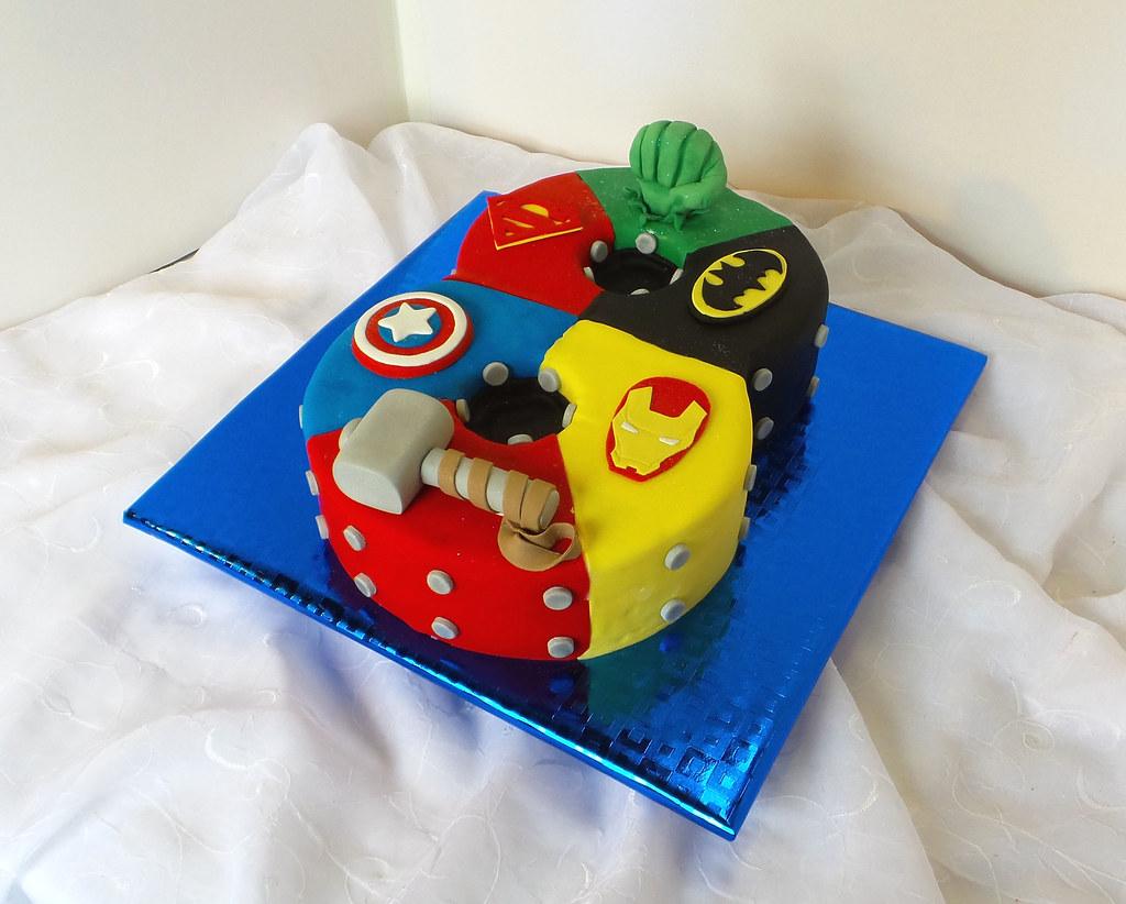 Number 8 Shaped Superhero Birthday Cake Willi Probst Bakery Flickr