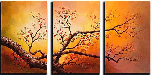 Cuadros Abstractos Tripticos Dipticos Flores Modernas 2013 Flickr