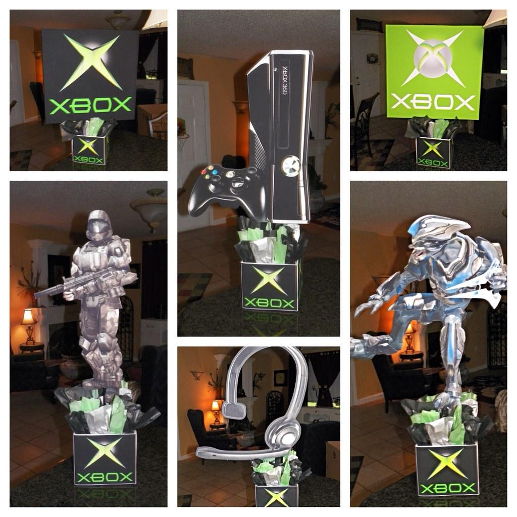 Xbox Birthday Party Centerpieces Call Of Duty Birthda Flickr Jpg 1024x1024