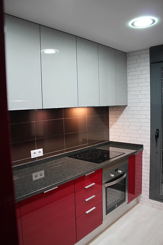 Dise o de cocinas en getafe rey rojo con gris clarito gran for Diseno de cocinas 3d gratis
