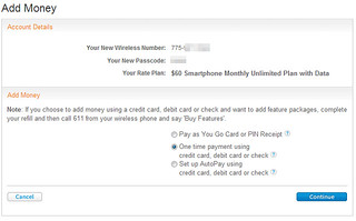 """Prepaid Bill gives you a super easy way to buy AT&T Go Phone refill minutes online, without having to visit the AT&T/GoPhone website. Simply enter a dollar amount in the field and click the """"Next Step"""" button, and you'll be guided through the process of entering the phone number of the AT&T Go Phone you need to recharge with more minutes."""