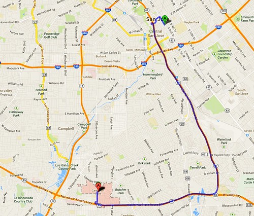 11 miles Cambrian to downtown San Jose | by Richard Masoner / Cyclelicious
