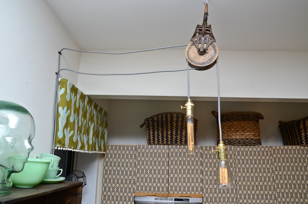 Excellent DIY Pendant Light with Barn Pulley | See more on my blog! ww… | Flickr MS31
