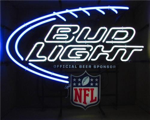 neon bud signs light sale bar nfl beer sign lights cave lighting men man indoor visit