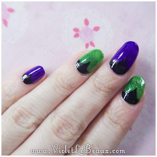 Simple Maleficent Nail Art Tutorial Today 8217 S Nail Art