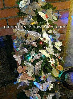 Butterfly tree - punched tin butterflies | by gingerbread_snowflakes