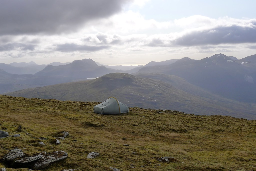 Wild camping on A' Chailleach