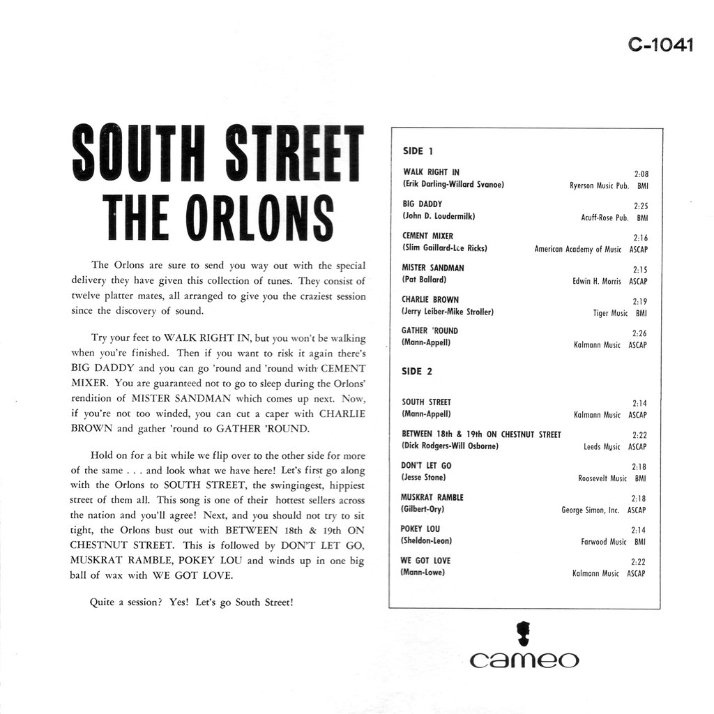 The Orlons - South Street By The Orlons