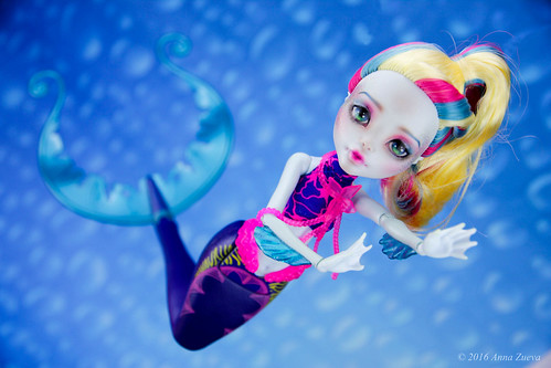 OOAK repaint of MonsterHigh Lagoona Blue | by AnnaZu