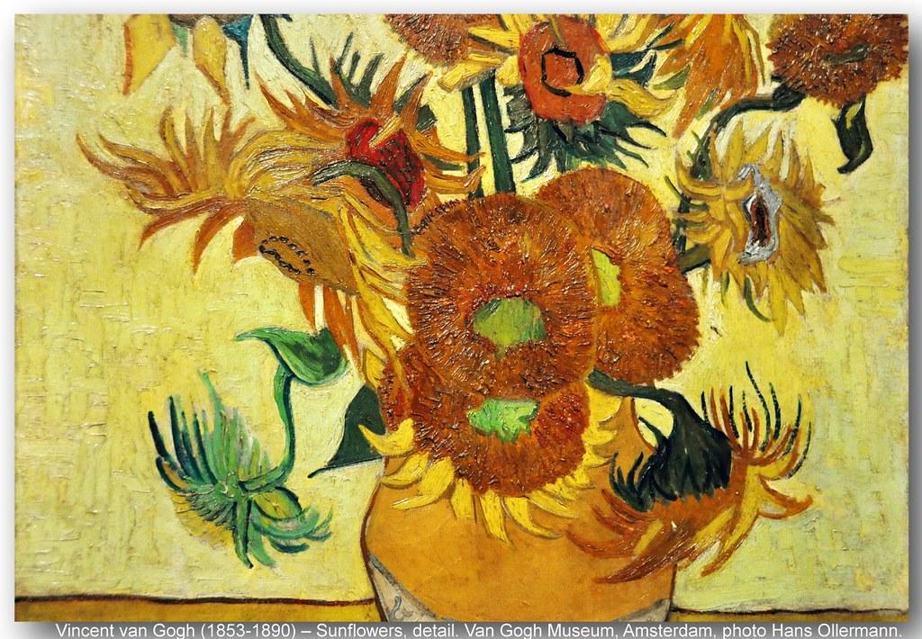 Van Gogh Museum Vincent 1853 1890 Sunflowers Detail