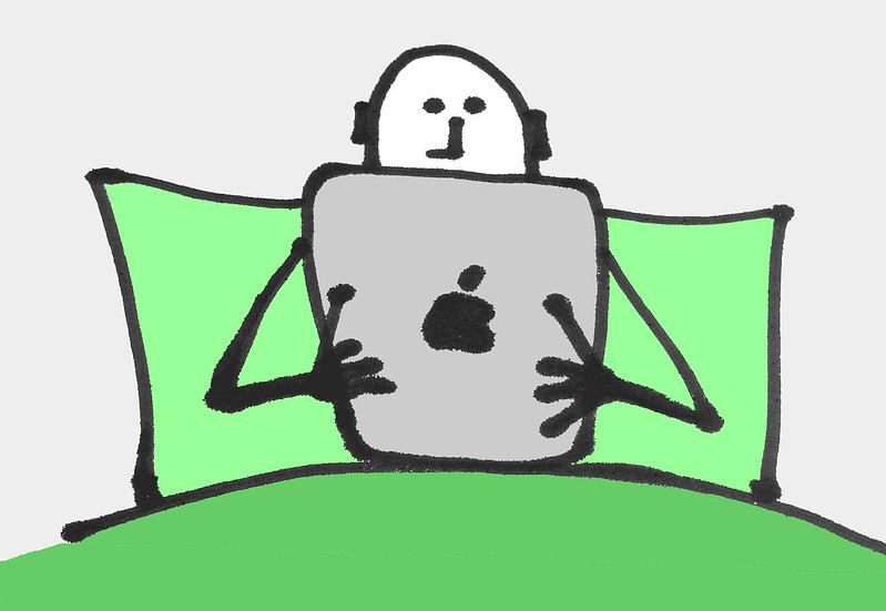 Using an iPad in bed