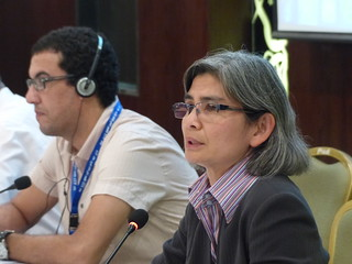 Sharon James, Dockers' Section Secretary with Said El Hairech, UMT Morocco, Dockers' Chair | by International Transport Workers' Federation