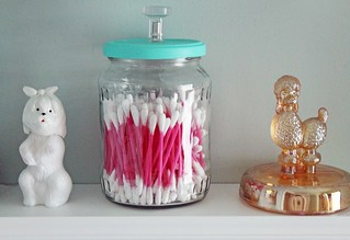 Upcycled Bathroom Jars | by femmefraiche