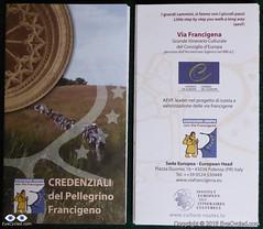 Via Francigena Pilgrim's Credentials