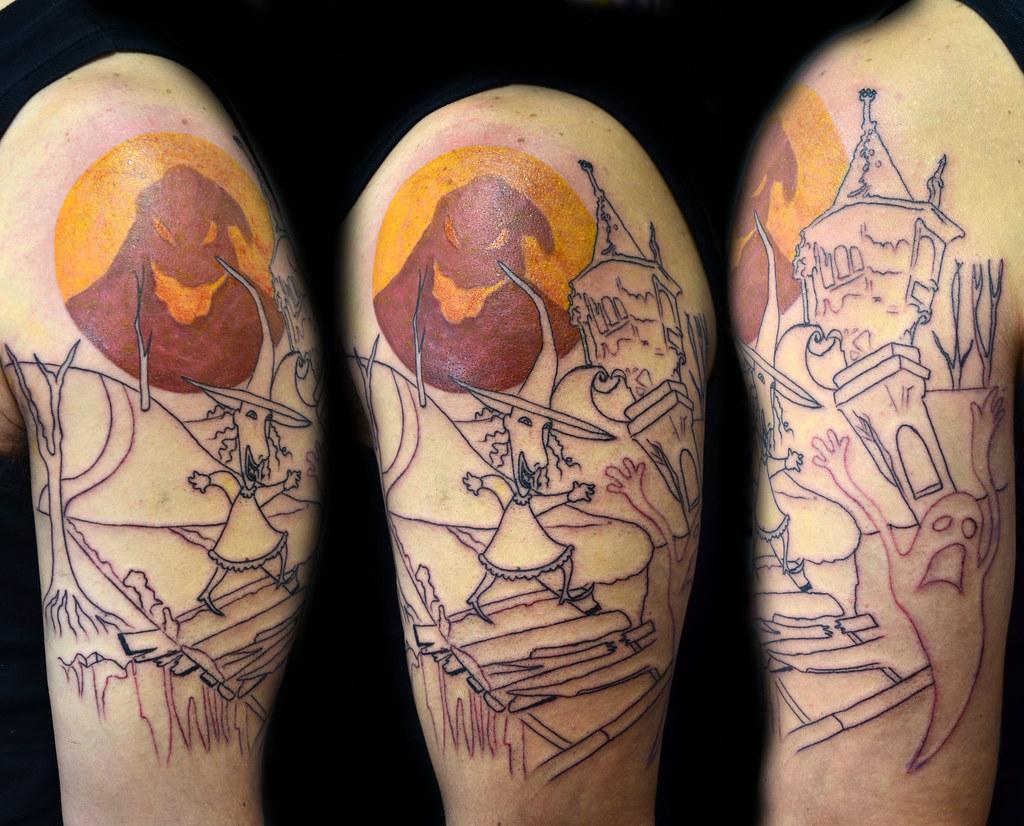 nightmare before Christmas tattoo in progress... | O estranh… | Flickr