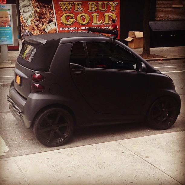 Matte Black Smart Car With Blacked Out Lights So Gangsta Flickr
