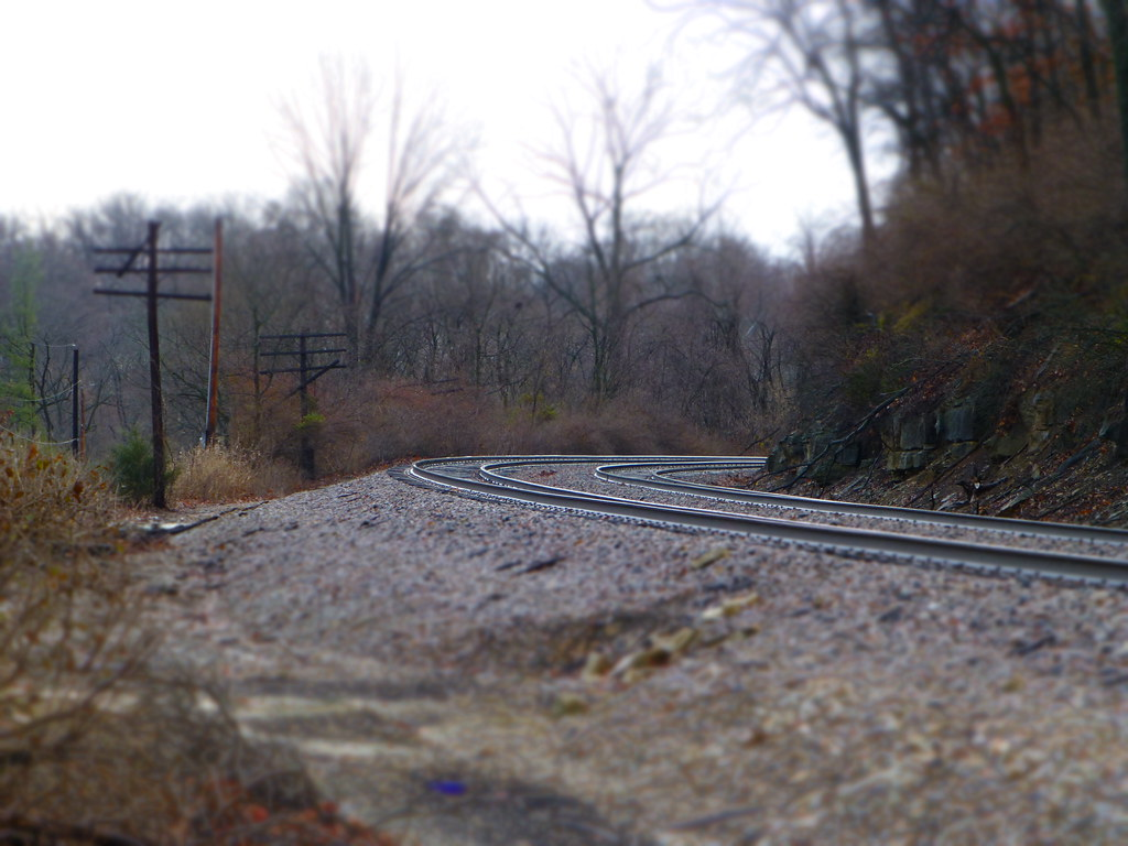 Railroad Tracks with Miniature Effect - Keyes Summit, MO_P