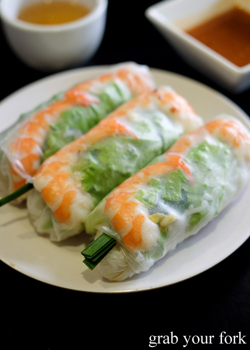 Goi cuon fresh rice paper rolls from Thy Vietnamese Eatery, Bankstown