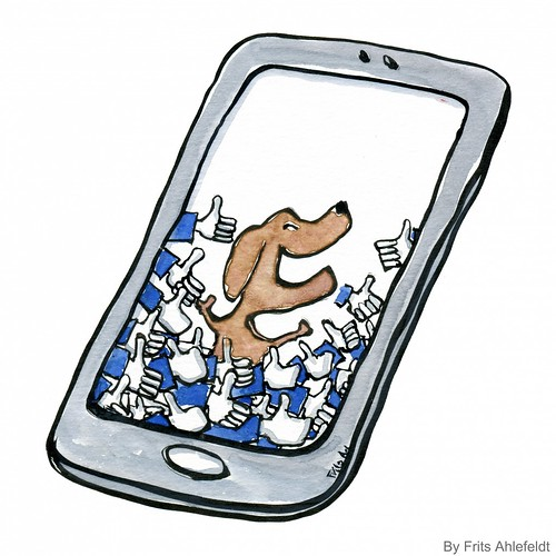 dog-on-internet-everybody-love-likes-phone-by-Frits-Ahlefeldt | by Frits Ahlefeldt - Hiking.org