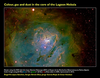 Colour, gas and dust in the core of the Lagoon Nebula | by Ángel López-Sánchez