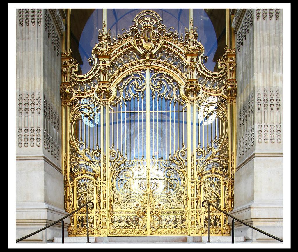 Grille De La Porte Dentrée Du Petit Palais Paris Flickr - Grille porte