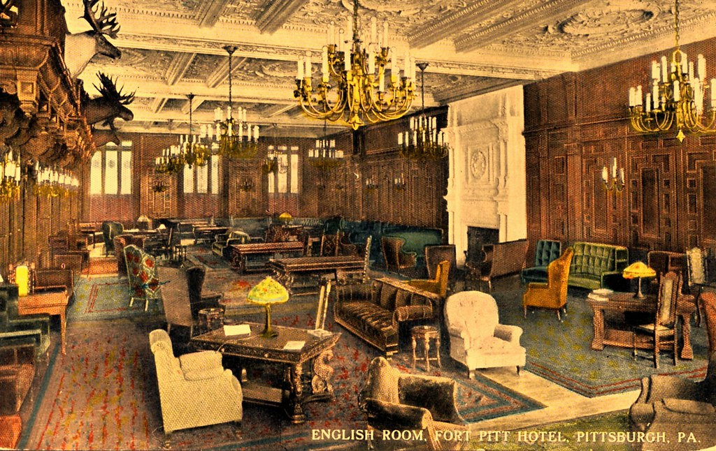 ... English Room Fort Pitt Hotel Pittsburgh PA | By Edge And Corner Wear