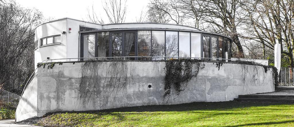 Reinster Bauhaus Stil Das Cafe Im Huthpark Johann Sandner Flickr