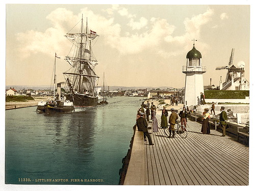[Pier and harbor, Littlehampton, England]  (LOC) | by The Library of Congress