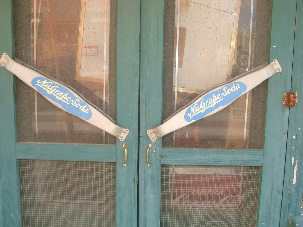 Nugrape Soda Screen Door Push Pull Bar Lexington Ga Flickr