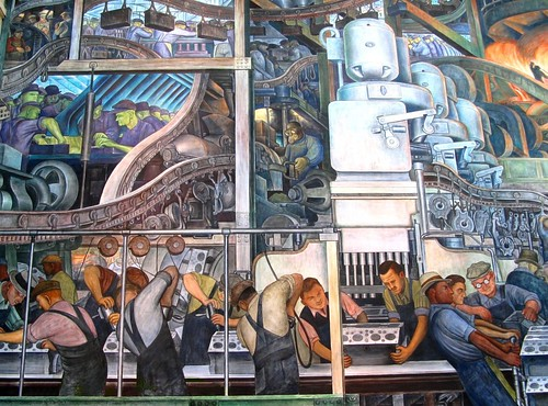 Detroit industry murals painted by diego rivera in 1933 for Detroit industry mural