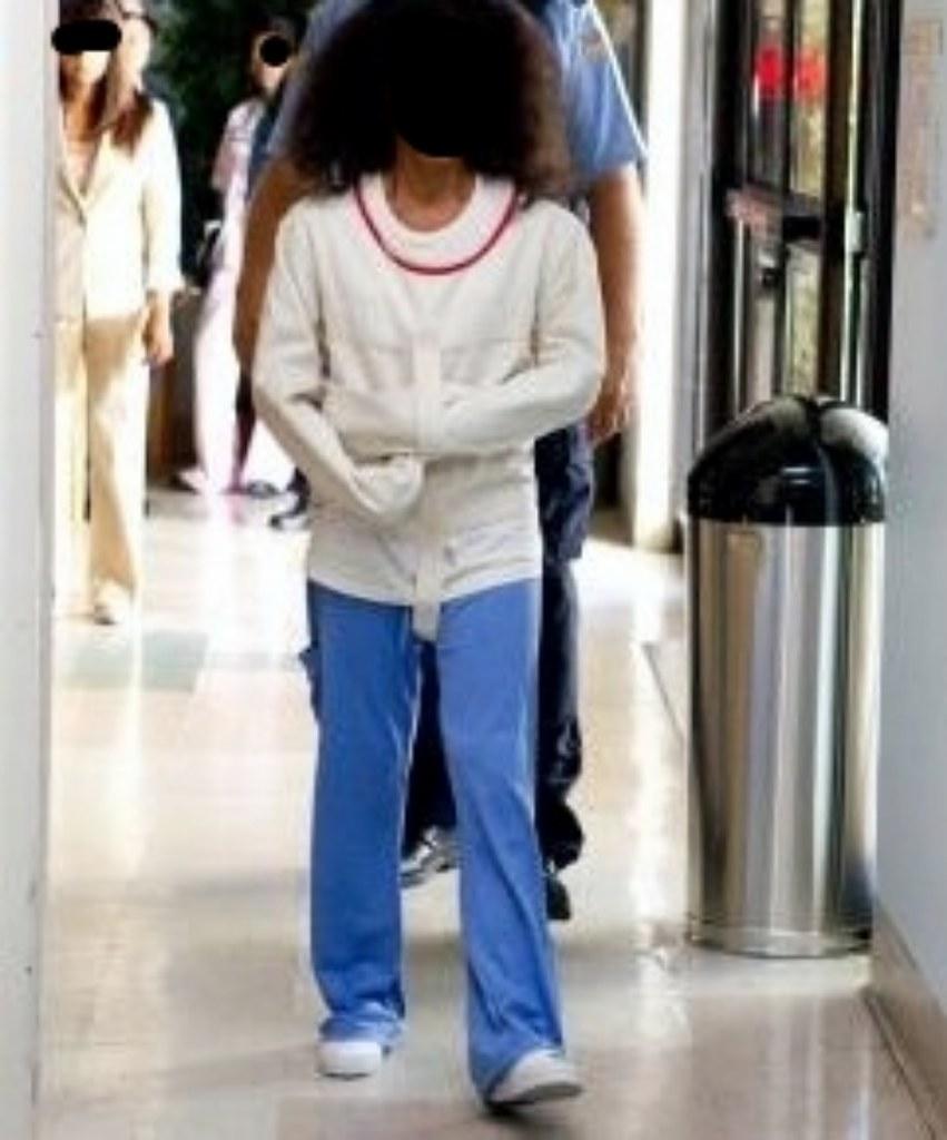 Woman in psychiatry in a Posey Straitjacket Restraint,Frau… | Flickr
